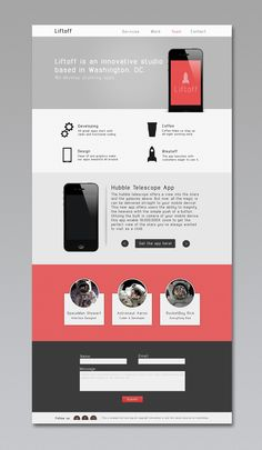 Liftoff - Free PSD Template