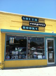 One of the coziest bookstores in Austin, South Congress Books,  makes our list.
