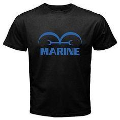 Men T shirt ONE PIECE *Marine Logo Anime Printed Black T Shirts Funny Tees Short Sleeve Printed T-Shirt