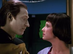 DATA: What do you feel, Lal? LAL: I love you, Father. DATA: I wish I could feel it with you. LAL: I will feel it for both of us. Thank you for my life. Flirting. Laughter. Painting. Family. Female. Human. - Star Trek TNG S3 The Offspring