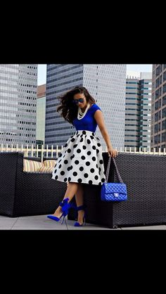 My goal is to have one polka dot skirt and dress love the look it gives Australian Style, Modest Fashion, Fashion Dresses, 50s Dresses, Church Dresses, Church Outfits, Elegant Dresses, Party Dresses, Corporate Wear