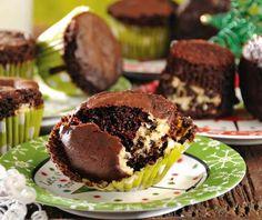 Cupcakes de queso crema y chocolate