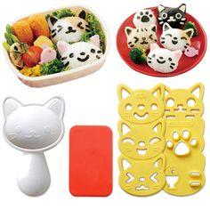 Sushi Bento Box Cat Mold