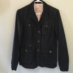 Black G1 Field Jacket Size Small Black field jacket from G1 British Cavalry. Plaid lining.  Multiple pockets. So useful and comfortable.  100% Cotton. Size Small. G1 Jackets & Coats Utility Jackets