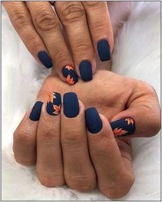 42 Outstanding Fall Nails Designs Ideas That Make You Want To Copy Fr. - 42 Outstanding Fall Nails Designs Ideas That Make You Want To Copy French manicures are - Classy Nail Designs, Fall Nail Art Designs, Colorful Nail Designs, Fall Designs, Cute Summer Nail Designs, Classy Nails, Stylish Nails, Elegant Nails, Simple Nails