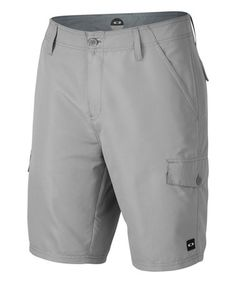 This Stone Gray Hybrid Cargo Boardshorts is perfect! #zulilyfinds