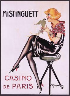 Vintage et cancrelats - Charles Gesmar - 'Mistinguett' 1922