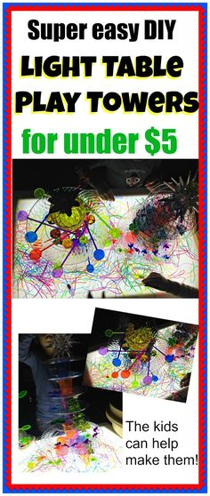 Super Easy DIY Light Table Play Towers | Epic Childhood