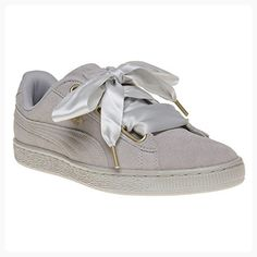 b56fb08353 Puma Womens Grey Violet Suede Heart Satin Trainers-UK 7 ( Partner Link)