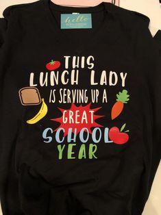 Lunch Lady Custom Tee New image 0 School Cafeteria Decorations, School Lunchroom, School Gifts, School Stuff, Back To School Bulletin Boards, Ladies Who Lunch, Board For Kids, Lunch Room, Custom Tees
