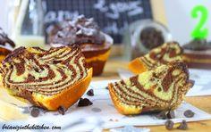 Gâteau Zébré Chocolat & Coco {Recette Light}