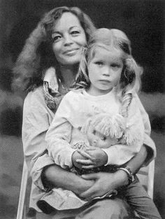 Romy Schneider with her daughter....