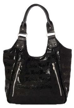 $48.00 Some girls prefer acoustic loves songs while others favor punk rock or sickly sweet pop songs. Whatever you like, add a hardcore edge to your look in the Lyrical purse from Metal Mulisha. This matte faux leather bag features an allover black gel print, domed metal stud detail, two angled zip pockets on the front and a hot pink satin lining. It's like a theme song for your day.100% Polyvinyl ...
