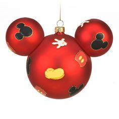 Best of Mickey Mouse Ornament; would love a Mickey tree. Mickey Mouse Christmas Tree, Mickey Mouse Ornaments, Disney Christmas Decorations, Noel Christmas, Christmas Balls, Mickey Ears, Xmas Tree, Minnie Mouse, Christmas Crafts