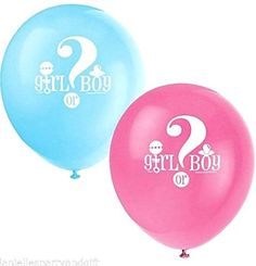 "Custom, Fun & Cool {Big Large Size 12"" Inch} 8 Pack of Helium & Air Inflatable Latex Rubber Balloons w/ Surprise Girl or Boy Design [Pink & Blue] mySimple Products"