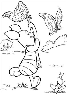 winnie the pooh coloring picture - Coloring Pictures Of Cartoon Characters