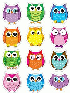 I love colorful owls. I know they're trendy but they're cute.