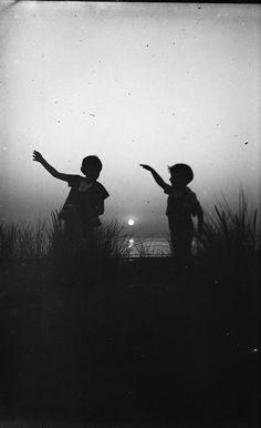 Silhouettes D'Enfants Plaque Verre Photo Negative Children AT Sunset | eBay