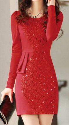 sequin embellished scoop neck dress
