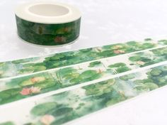 water lily masking tape 10M watercolor lotus lily by TapesKingdom