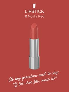 IF | Lipstick in NOLITA RED Discover more on wemakeup.it/#if