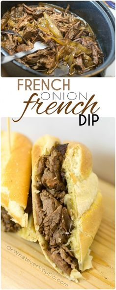 French Onion French Dip sandwiches featuring @zayconfoods chuck roasts!