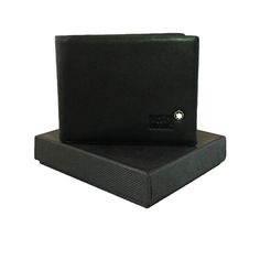 Mont Blanc Black Leather Wallet for Men. #wallet, #men, #women, #fashion, #india