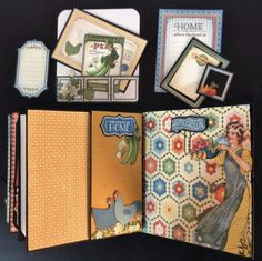 annes papercreations: Graphic 45 Home Sweet Home 5 x 5 Mini Album