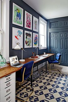 Fill up large blank walls with art: learn 7 ways to break up empty walls with bold, colorful art, from traditional artwork and a gallery wall to unique and unconventional wall art ideas such as textiles, mirrors, furniture, monochromatic wall art and negative space wall art like boho chic macrame and hippie glam wall hangings. See this art piece and more in this post by Hadley Court Interior Design Blog. Houston Texas Interior Designer Leslie Hendrix Wood.