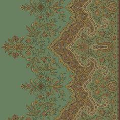 IMPERIAL Green Peelable Vinyl Prepasted Wallpaper
