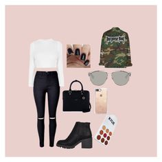 """""""PURPOSE TOUR PUERTO RICO OUTFIT"""" by vlondrv on Polyvore featuring River Island, Henri Bendel, Casetify and Christian Dior"""