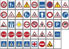 """""""Traffic signs"""" tileset for kyodai Mahjongg – Mahjongg Transportation Party, Kids Play Table, Dinosaurs Preschool, Hot Wheels Party, Small Canvas Art, Road Trip Games, Wheels On The Bus, Car Themes, Cool Coloring Pages"""