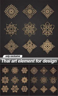 Thai art element for design - 6 EPS