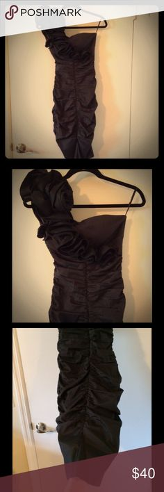 """Cache Black Cocktail / Evening Dress Great For Any Special Occasion😀 The fit is so flattering for any body type and the ruching style hides all imperfections. This dress gives you a beautiful slimming look without spanx """"YES"""" to no spanx please! In good condition only worn twice. Cache Dresses"""