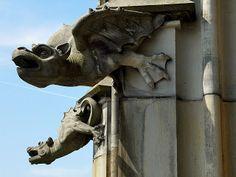 Gargoyles found at the Ulm Munster, German