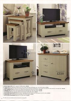 Hartford Painted  Small sideboard £350  H 800 W 1160 D 465 Solid Pine in a dark natural painted finish which retains random saw marks. Another example of a distressed painted finish putting a range in the mid to higher end of the market. Design seems a bit clunky, very thick sections maybe to give a feel of value for money.