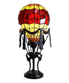 Look at this #zulilyfind! Red Lift Off Baloon Table Lamp #zulilyfinds
