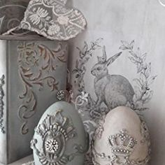 Prima Marketing 814809 Baroque No.4 Iron Orchid Designs Vintage Art Decor Mold, Grey
