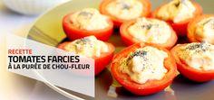 [Recette] Tomates crues farcies à la purée de chou-fleur {vegan}