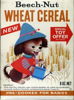 Cute kids breakfast cereal boxes!  Could be framed or otherwise incorporated as art for a breakfast restaurant...