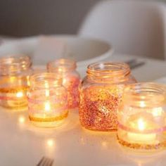 diy graduation decorating | Glittered Chic Candle Holder DIY {Candle Holders}