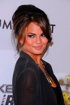 Chignon Hairstyles Inspired from Celebrities  Chrissy Teigen's Chignon Hairstyle