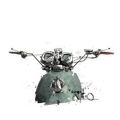 Motorcycle Illustrations Tomas Pajdlhauser