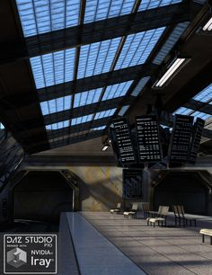 Neo Station converted and updated to .DUF for both 3Delight and Iray. Sets, Cameras, and Material Presets created for both 3Delight and Iray. Iray Sky Environments created from 06:30 am to 08:30 pm for different sky light and colors during the day.  For DAZ Studio 4.9 Pro.