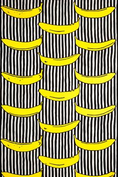 "Design Inez Svensson, Made a brief comeback to Ikea a few years ago, as a part of their ""Avbilda"" collection. Inspired by Andy Warhol. Fruit Pattern, Pattern Art, Pattern Design, Surface Design, Surface Pattern, Motifs Textiles, Textile Patterns, Ikea, Pretty Patterns"