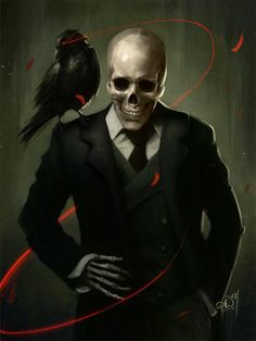 Skully Gentleman Art Print by Amy Wilkins - X-Small Fantasy Character Design, Character Inspiration, Character Art, Arte Horror, Horror Art, Dark Fantasy Art, Dark Art, Arte Fashion, Arte Obscura