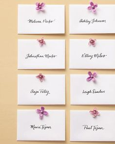 Wonderful idea for place cards since we won't have much table space.