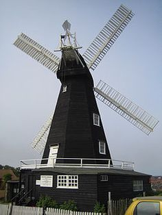 Draper's Mill is a Smock mill in Margate, Kent, built circa 1847. It was built  by John Holman, the Canterbury millwright, replacing an earlier mill that had previously been moved here from Nayland Point. The mill worked by wind until 1916, & by a gas engine until the late 1930s. The sails & fantail were removed in 1927. In 1965, the Draper's Windmill Trust was formed to preserve the mill, & in 1968 the Kent Education Committee acquired the mill, which was restored