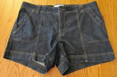 Sonoma Womens Plus Size 16W Denim Jean Shorts Dark Wash Above Knee #Sonoma #Denim