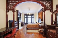 Garfield Place Park Slope  Brooklyn Victorian interior woodwork by techpro12, via Flickr